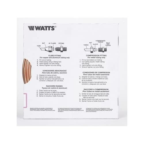 "Watts Pre Cut Copper Tubing 1/4 "" Od. X 15 ' 0.022-0.025 Wall T"