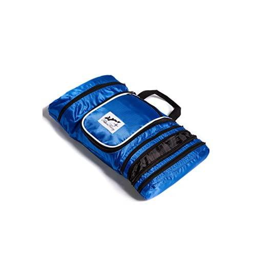 Fishers Finery Hanging Toiletry Bag Travel Bathroom Organizer Travel Bag (Blue)