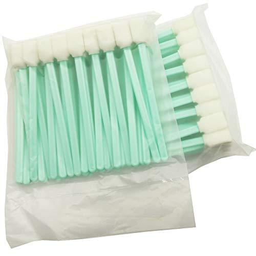 """Tyoungg 100 Pieces 5.1"""" Cleaning Swab Sticks Square Rectangle Foam For Solvent Format Inkjet Printer Roland Optical Equipment In 2 Separate Dust Free Packaging Bags"""