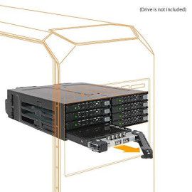 """Icy Dock Tougharmor Mb998Sp-B Rugged Full Metal 8 Bay 2.5"""" Sata Hdd &Amp; Ssd Hotswap Backplane Cage For 5.25 Drive Bay"""