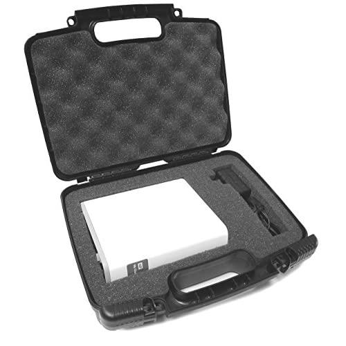 Hard Case External Desktop Usb Hard Drive Carrying Case With Dense Customizable Internal Foam Padding And Power Adapter & Cable Storage - Fits All Western Digital Wd My Book / My Book For Mac / My Book Studio For Mac / Wd My Cloud - Models Up To 8 Tb