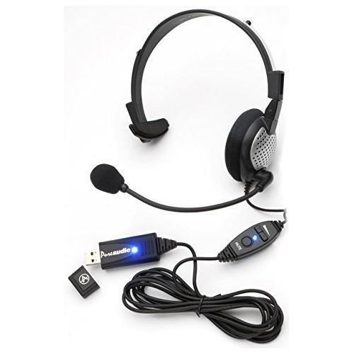 Monaural Voice Recognition Usb Headset With Noise Cancelling Boom Microphone For Dragon Naturallyspeaking 13, Dragon 13 Home, Premium, Professional &Amp; Dragon Dictate.