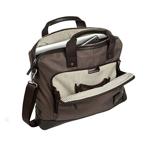 Brenthaven Medina Slim Brief With Padded Pockets Fits 15 Inch Chromebooks,Laptops,Tablets Bag For Commercial,Business And Office Essentials-Chestnut, Rugged Protection From Impact And Compression