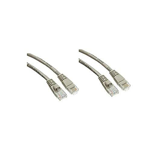 2 Pack Cat5E Snagless/Molded Boot, Ethernet Patch Cable 2 Feet Grey, Cne480898