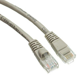 Cat5E Snagless/Molded Boot, Ethernet Patch Cable 4 Feet Grey, Cne480928