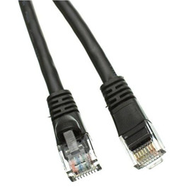 Cat5E Ethernet Patch Cable, Snagless/Molded Boot 7 Feet Black, Cne490118