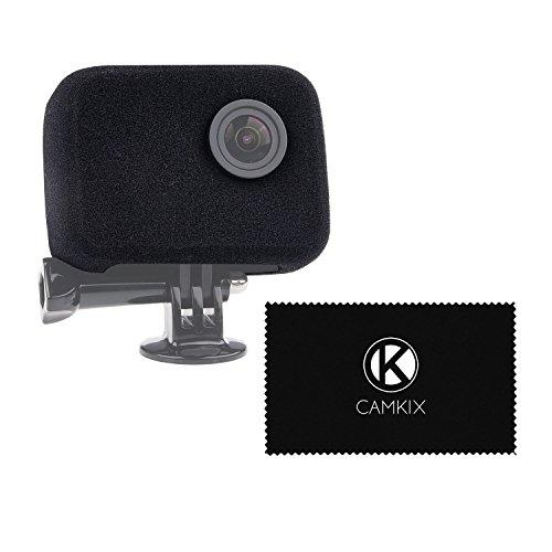 Camkix Windscreen Compatible With Gopro Hero4, Hero3+ And Hero3 - Reduces Wind Noise For Optimal Audio Recording - Lens Cleaning Cloth Included