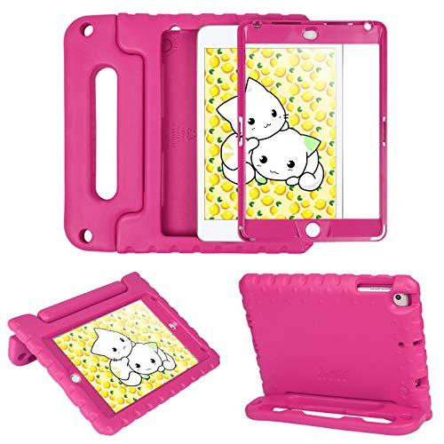 Hde Ipad Mini 5 &Amp; 4 Case For Kids With Built In Screen Protector - Shockproof Handle Stand With Apple Pencil Holder Compatibile With New Ipad Mini 5Th Generation And Ipad Mini 4Th Generation Tablet
