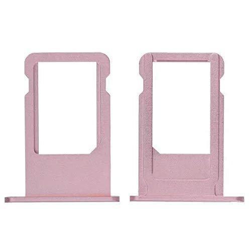 Goliton 1Pcs Sim Card Tray Slot Holder Replacement Part For Iphone 6S Plus 5.5 Inch (Pink)