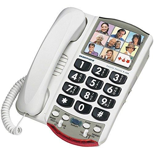 Clarity 76593.000 P300 Picture Id Mild Hearing Loss Amplified Corded Phone