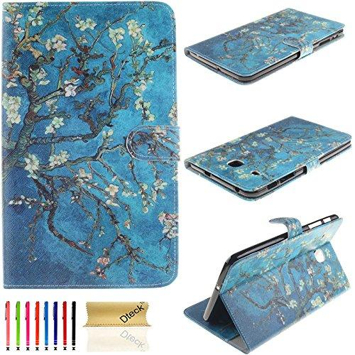 T377V Case, Galaxy Tab E 8.0 Case, Dteck(Tm) Ultra Slim Pu Leather Case Flip Stand [Credit Card Slot] Wallet Case Cover For Samsung Galaxy Tab E 8.0 4G Lte Sm-T377A/T377V Tablet,Pear Flower