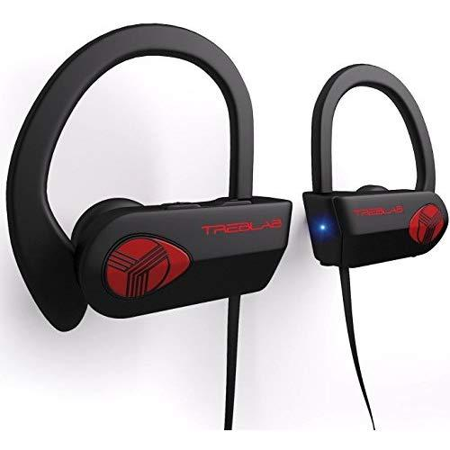 Treblab - Xr500 Bluetooth Running Headphones With Microphone - Waterproof, Noise Cancelling, Secure-Fit (Black)