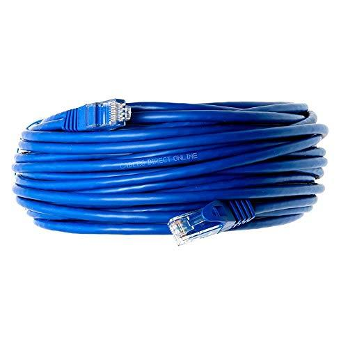 Cables Direct Online Snagless Cat5E Ethernet Network Patch Cable Blue 50 Feet