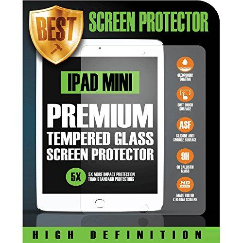 Best Tempered Shatter- Proof & Scratch Resistant Screen Protector For Ipad Mini 4 (2016+) - 5X The Resistance To Other Screen Protectors