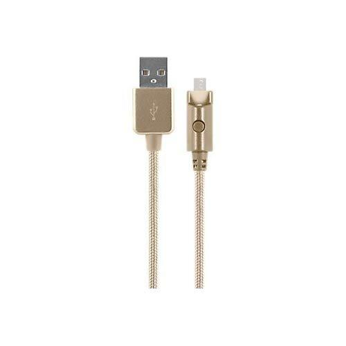 Verizon Braided Charge And Sync Cable For Micro Usb - Gold