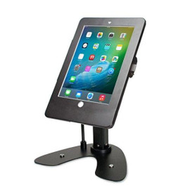 Cta Digital Pad-Askb Dual Security Kiosk Stand With Locking Case &Amp; Cable For Ipad 2017/2018/Ipad Air (Gen. 1-2)/Ipad Pro 9.7, Black