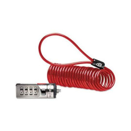 Kensington 64671 Portable Combination Laptop Lock, 6Ft Steel Cable, Red