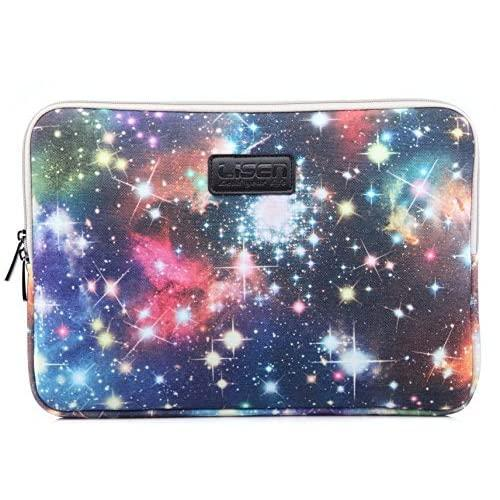 Xskn Starry Sky Design Shockproof Laptop Sleeve Carrying Bag Case For 11 Inch 13 Inch 15 Inch Laptop And Macbook Air Pro Retina, Blue Stars Tablet Bag For Ipad Air (13 Inch, For 13.3 Inch Laptop)
