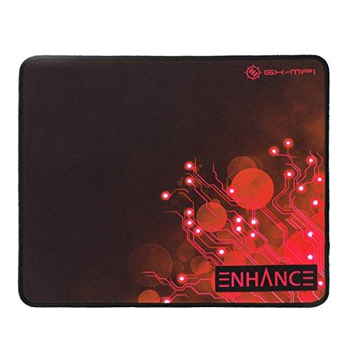 Large Gaming Mouse Pad Xl By Enhance - Extended Mouse Mat, Anti-Fray Stitching, Non-Slip Rubber Base, High Precision Tracking For Pubg, League Of Legends, More - Red Ciruit Design