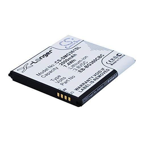 Cameron Sino 2000Mah/7.60Wh Battery Compatible With Samsung Galaxy, Galaxy Duos, Sm-00H/Ds, Sm-00H/Dd, Sm-00F/Ds And Others