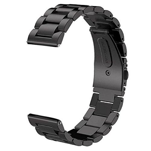 Gear S3 Frontier/Classic Band/Galaxy Watch 46Mm Band,V-Moro 22Mm Solid Stainless Steel Metal Business Bracelet Strap For Samsung Gear S3 Frontier/S3 Classic Smartwatch/Galaxy Watch 46Mm R800 Black