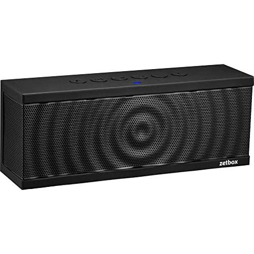 Zets Wireless Bluetooth Speaker, 10W, Up To 12 Hours Playtime, Nfc & Aux Connectivity, Portable Loud Speaker For Iphone, Ipad, Galaxy, Nexus, And More - Black