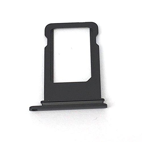 E-Repair Sim Card Tray Holder Replacement For Iphone 7 (4.7'') (Black)