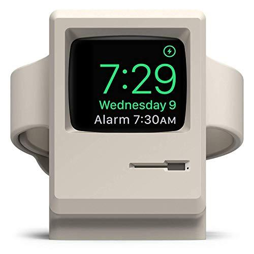 Elago W3 Stand Designed For Apple Watch Stand Compatible With Iwatch Series 5, Series 4, 3, 2, 1, (44Mm, 42Mm, 40Mm, 38Mm), Support Nightstand Mode, Original Design Awards [White] (Patent Pending)