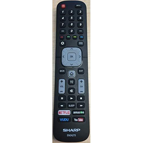New Usarmt Replaced Sharp En2A27S Smart Remote For Sharp 4K Ultra Led Smart Hdtv 55H6B, 50H7Gb, 50H6B, N6200U,