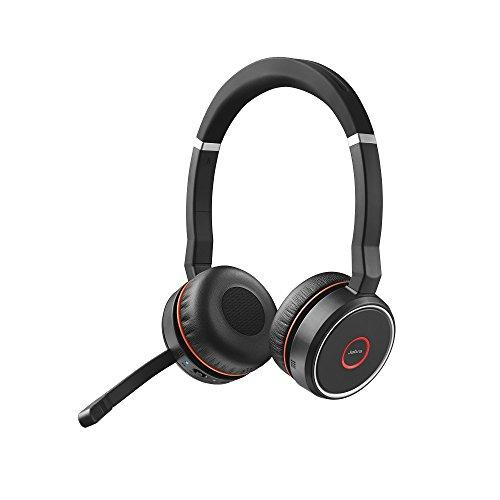Jabra Evolve 75 Ms Wireless Headset, Stereo - Includes Link 370 Usb Adapter - Bluetooth Headset With World-Class Speakers, Active Noise-Cancelling Microphone, All Day Battery