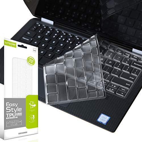 Vfeng Ultra Thin Clear Keyboard Cover For 2019 Released Model Dell Xps 13 9380, Dell Xps 9370 And 9365 13-Inch 2 In 1 Ultrabook Computer(2018/2017),Xps 13 Standard 7390(Not For 2-In-1 7390)