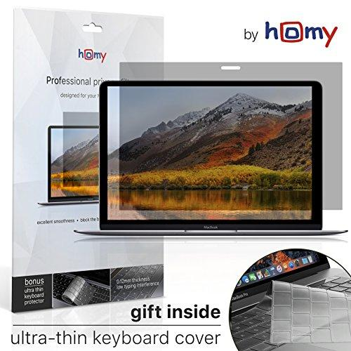 Homy Privacy Screen Protector Kit For Macbook Pro 13 Inch 2016 Or Later, Macbook Air 13 Retina 2018 + Keyboard Cover. Easy On-Off Anti Spy Filter For A1706, A1989 A2159 Touch Bar A1708, A1932 Model