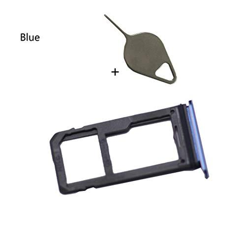 Eaglestar Note 8 Replacement (Single Sim) Card Holder+Micro Sd Card Holder Slot Tray+Eject Pin Tool For Samsung Galaxy Note 8 N950 (Fit All Carrier)-Blue