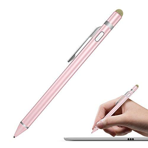 Moko Universal Active Stylus Pen, Capacitive Fine Point Touch Screen Tablets Stylus Pencil Fit With Apple Ipad, Ipad Mini/Air/Pro, Iphone, Samsung Galaxy, Touchscreen Devices &Amp; Smartphones - Rose Gold