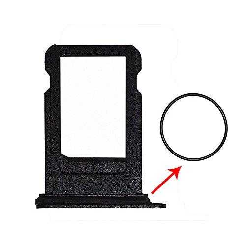 "Afeax Compatible With Iphone Sim Card Tray Holder Replacement For Iphone 7 4.7"" With Waterproof Rubber Ring Black"
