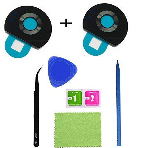 2Pcs Eaglestar Z2 Play True Glass Rear Camera Cover Lens Replacement For Motorola Moto Z2 Play With Pre-Installed Adhesive Tape+Diy Repair Tools