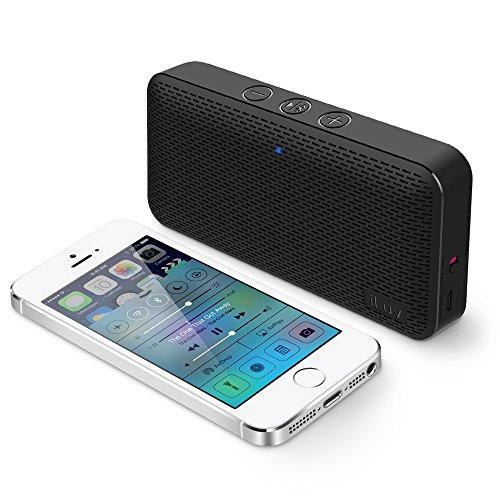 Iluv Aud Mini Ultra Slim Pocket-Sized Powerful Sound Bluetooth Speaker For Iphone, Ipad, Samsung Galaxy Series, Note, Tablet, Lg, Google Android Phone, Other Bluetooth Devices And Echo Dot