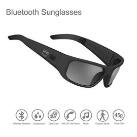Waterproof Audio Sunglasses,Open Ear Bluetooth Sunglasses To Listen Music And Make Phone Calls With Polarized Uv400 Protection Safety Lenses,Unisex Sport Design For All Smart Phones