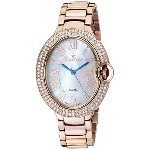Croton Women'S Quartz Watch With Stainless-Steel Strap, Rose Gold, 16.2 (Model: Cn207566Rgmp)