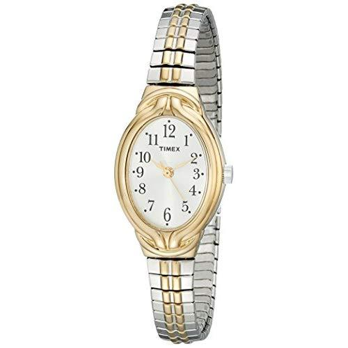 Timex Women'S T2N980 Greenmount Terrace Two-Tone Stainless Steel Expansion Band Watch