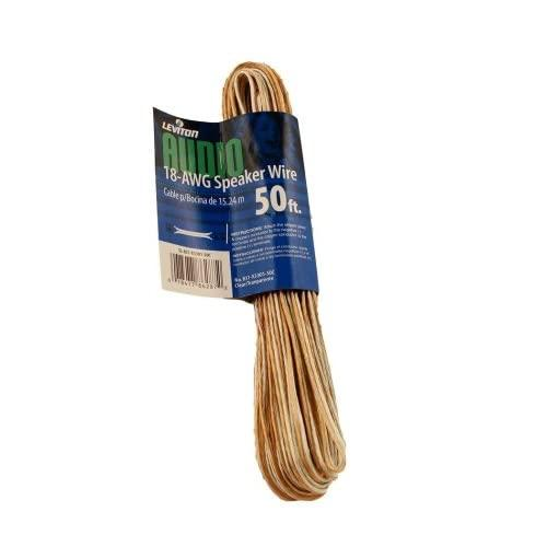 Leviton X3301-50C 50-Foot 18/2 Awg Speaker Wire