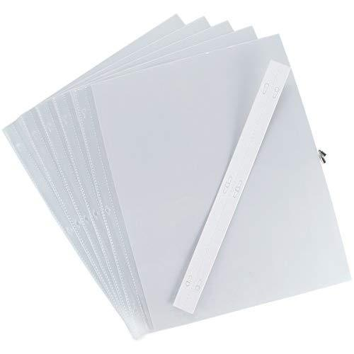 Pioneer Postbound Top Loading Page Protectors 5/Pkg, 12 Inch By 15 Inch With White Inserts