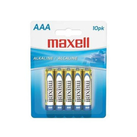 Maxell 723810 Alkaline Battery Aaa Cell 10-Pack