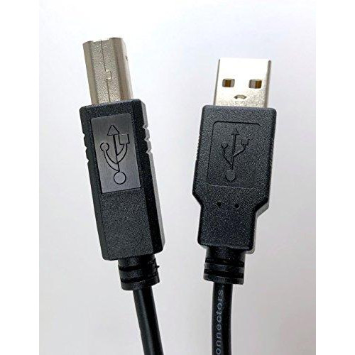 Micro Connectors, Inc. 10 Feet Usb 2.0 Type A To B Cable - Black (E07-122Blk)