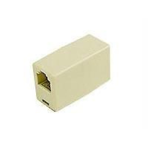 C2G/Cables To Go 01920 Rj11 4-Pin Modular Inline Coupler Straight-Through (pale)