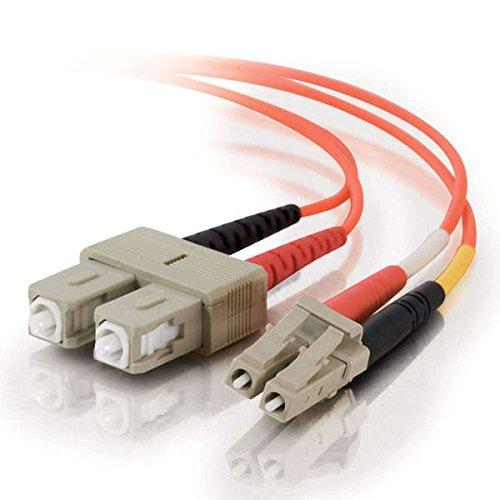 C2G/Cables To Go 33017 Lc-Sc 50/125 Om2 Duplex Multimode Pvc Fiber Optic Cable, Orange (4 Meter)