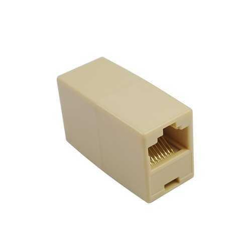 Rj45 Ethernet Cable Connector, F-To-F Type, Almond Color