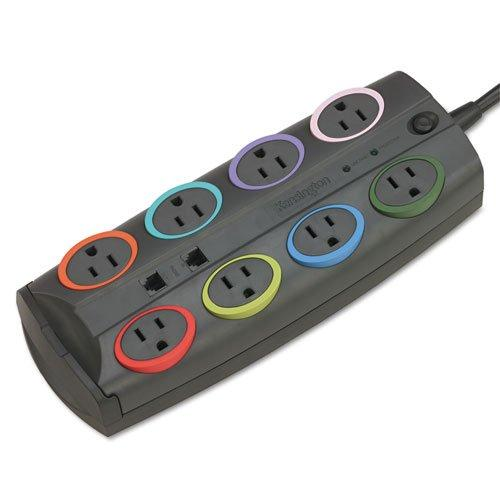 Smartsockets Premium Color-Coded Eight-Outlet Adapter Model Surge Protector