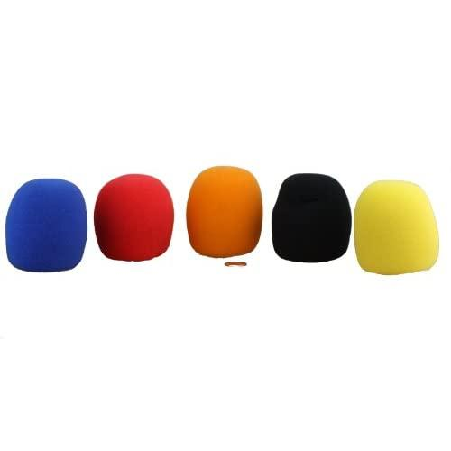 Hisonic Btws5P Ball-Type Microphone Windscreen For Handhel Microphones, Fits Most Of The Handhled Microphones, 5-Pack
