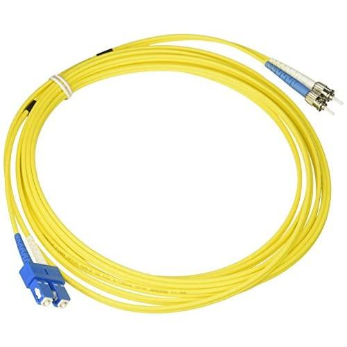 C2G/Cables To Go 37903 Sc/St Plenum-Rated 9/125 Duplex Single-Mode Fiber Patch Cable, Yellow (16.40 Feet/ 5 Meter)